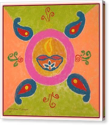 Festival Of Deepawali Canvas Print by Sonali Gangane