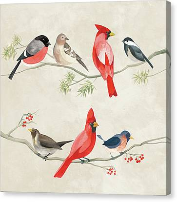 Festive Birds I Canvas Print by Danhui Nai