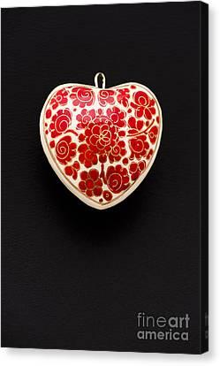 Festive Heart Canvas Print by Anne Gilbert
