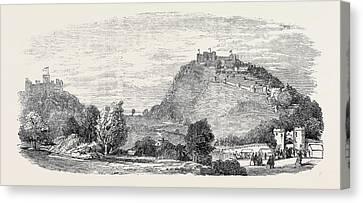 Festivities At Beeston Castle Canvas Print by English School