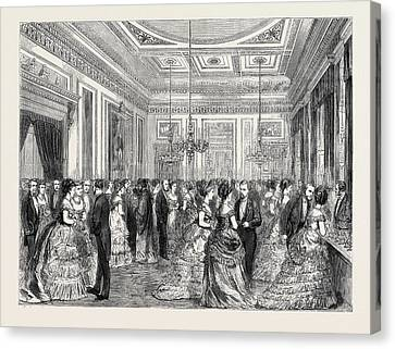 Festivities At Fishmongers Hall, The Court Dining Room Canvas Print by English School