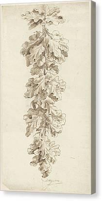 Festoon Of Oak Leaves, Jacob Hagen II Canvas Print by Quint Lox