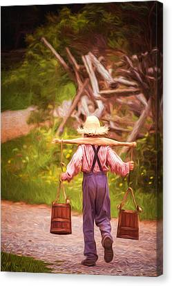 Fetch A Pail Of Water - Artistic Canvas Print