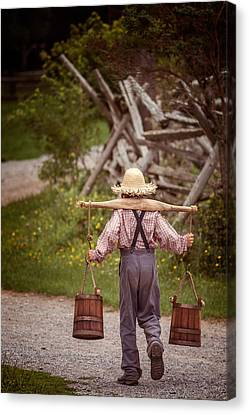 Fetch A Pail Of Water Canvas Print
