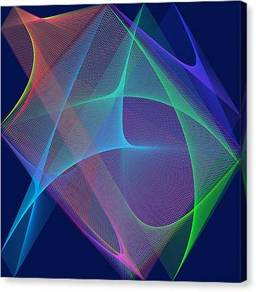 Canvas Print featuring the digital art Fever by Karo Evans
