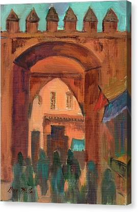 Fez Town Scene Canvas Print by Diane McClary