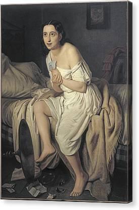 Fiamminghi, Giacomo 1815 - 1895. Love Canvas Print by Everett