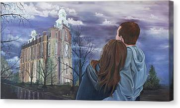 Fiance Canvas Print by Jane Autry