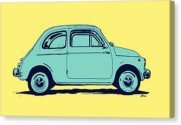 Icon Canvas Print - Fiat 500 by Giuseppe Cristiano