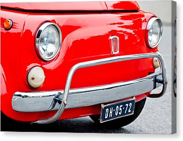 Fiat 500 L Front End Canvas Print by Jill Reger