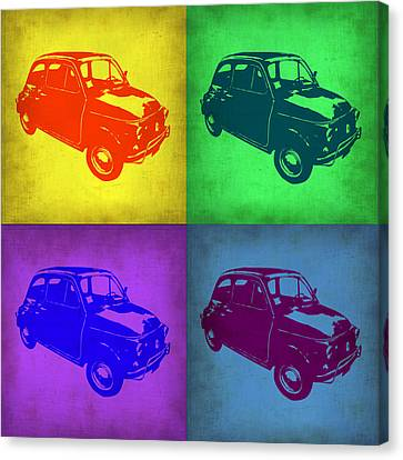 Fiat 500 Pop Art 1 Canvas Print by Naxart Studio
