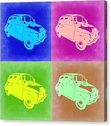 Fiat 500 Pop Art 2 Canvas Print by Naxart Studio