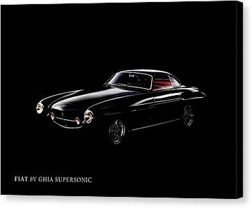 Fiat 8v Supersonic Black Edition Canvas Print