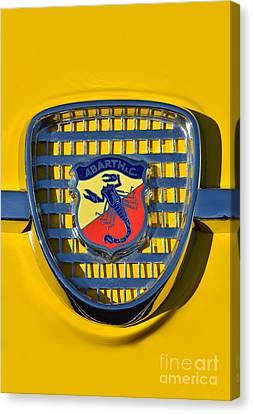 Fiat Abarth Badge Canvas Print by George Atsametakis