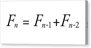 Fibonacci Sequence Equation Canvas Print by Science Photo Library