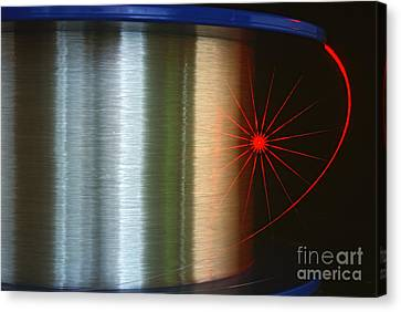 Fibre Optic Coil Canvas Print by James L. Amos