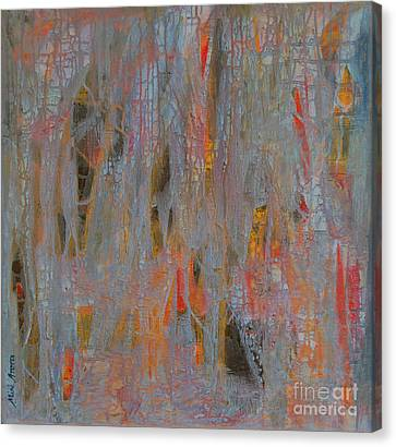 Canvas Print featuring the painting Fibres Of My Being by Mini Arora