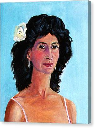 Fiction Writer And Samba Dancer Canvas Print by Asha Carolyn Young