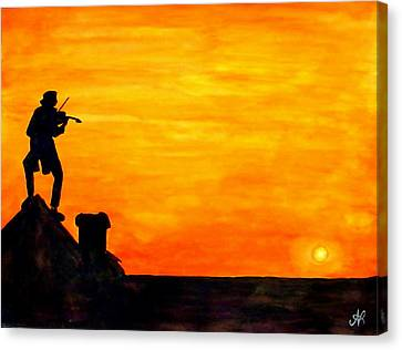 Fiddler On The Roof Canvas Print by Nieve Andrea