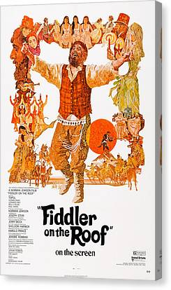 Fiddler On The Roof, Topol Center, 1971 Canvas Print