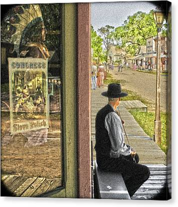 Fiddler On The Street Canvas Print
