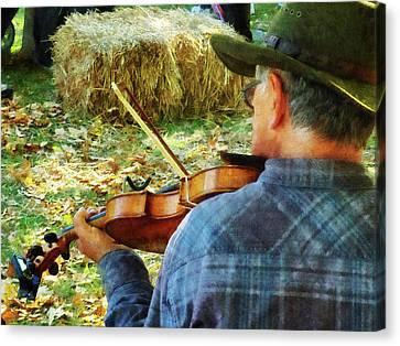 Music Canvas Print - Fiddler by Susan Savad
