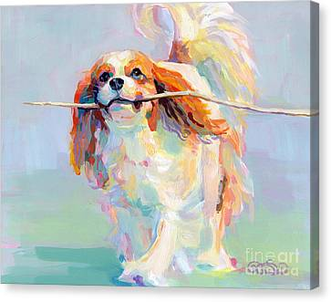 Kelly Canvas Print - Fiddlesticks by Kimberly Santini