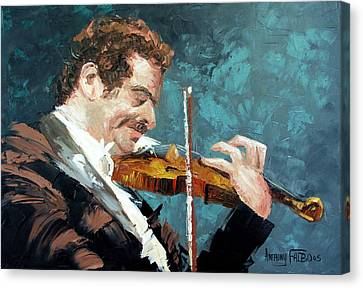 Fiddling Around Canvas Print by Anthony Falbo