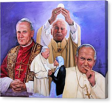 Fides Et Ratio Saint John Paul II Canvas Print by Richard Barone