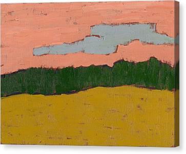 Field At Sunset Canvas Print by David Dossett