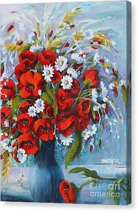 Field Bouquet 2 Canvas Print by Marta Styk