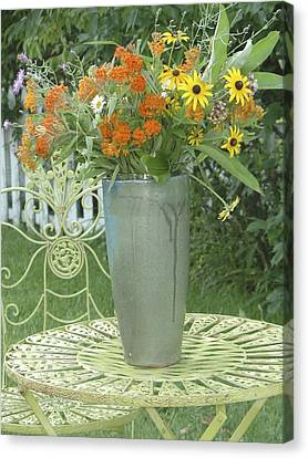Canvas Print featuring the photograph Field Flowers At The Mill by Delona Seserman