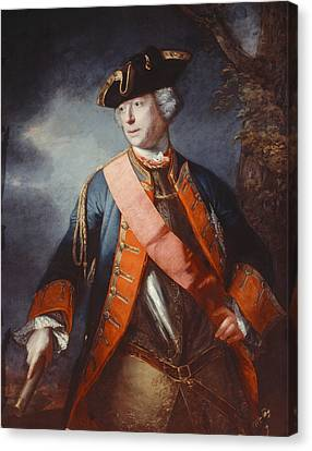 Field Marshal Jean Louis Ligonier C.1755 Canvas Print