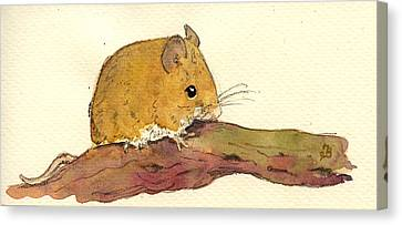 Field Mouse Canvas Print by Juan  Bosco