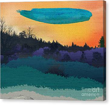 Field Of Colors And Shades Canvas Print by Bedros Awak