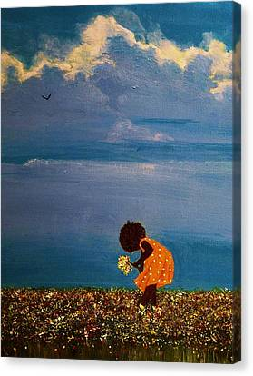 African American Canvas Print - Field Of Colors by Edith Peterson-Watson