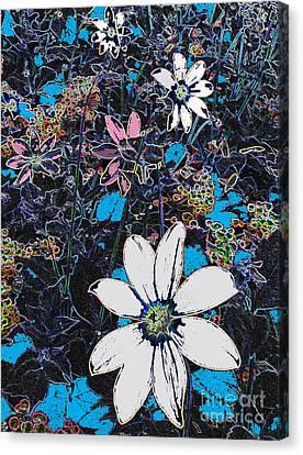 Field Of Dreaming Flowers Canvas Print by Deborah Montana