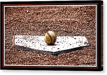 Field Of Dreams The Ball Canvas Print by Susanne Van Hulst