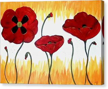 Field Of Fire Canvas Print