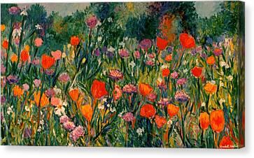 Field Of Flowers Canvas Print by Kendall Kessler