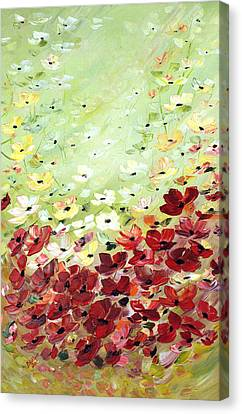 Field Of Poppies Canvas Print by Dorothy Maier