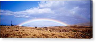 Field, Rainbow, Hawaii, Usa Canvas Print by Panoramic Images