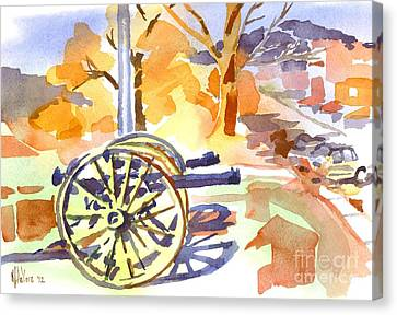 Field Rifles In Watercolor Canvas Print by Kip DeVore