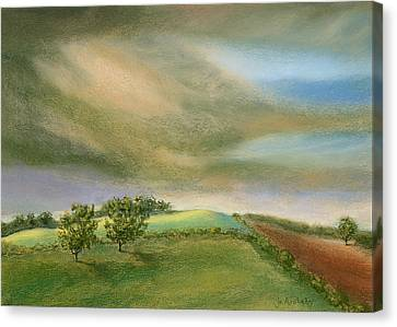 Fields In The Sun Canvas Print by Jo Appleby