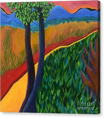 Canvas Print featuring the painting Fields Of Agave by Elizabeth Fontaine-Barr