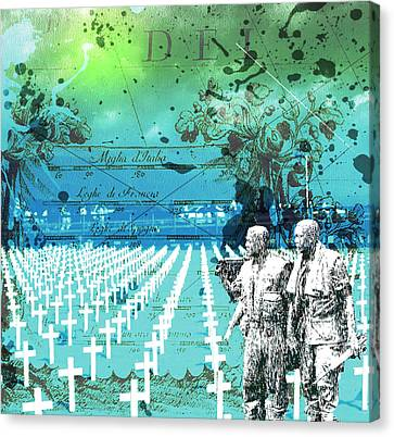 Fields Of Peace Canvas Print by Diskrid Art