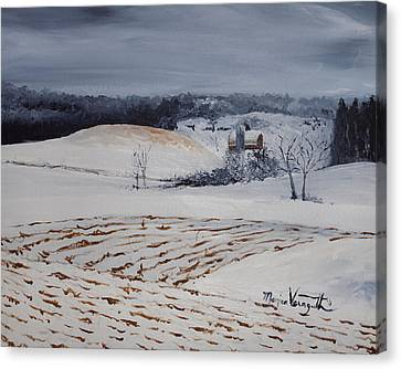 Fields Of White Canvas Print by Monica Veraguth