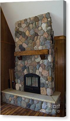 Fieldstone Remodel Canvas Print by The Stone Age