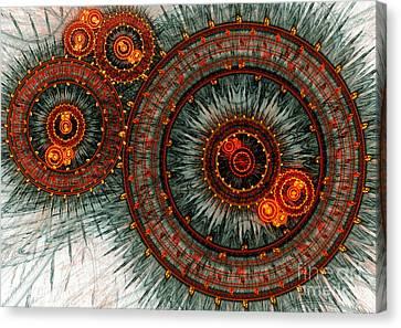 Fiery  Clockwork Canvas Print by Martin Capek