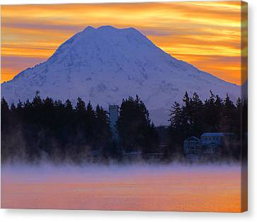 Fiery Dawn Canvas Print by Tikvah's Hope